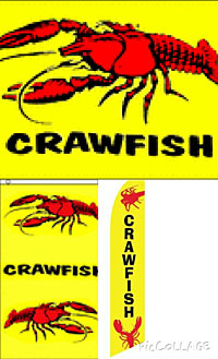 3 Swooper Flags Crawfish Dining SALE Now Open Welcome Open